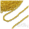 Ankerkette 3 x 2 mm | goldfarben